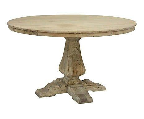 mesa redonda madera natural reciclada