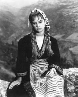 aliki vougiouklaki | Aliki Vougiouklaki as a lovelorn Astero , 1959