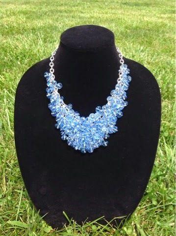 Blue Lagoon Bib Necklace | AllFreeJewelryMaking.com
