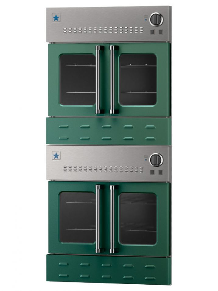 Double Gas Wall Oven - Moss Na (RAL 6005) 30 double wall oven ...