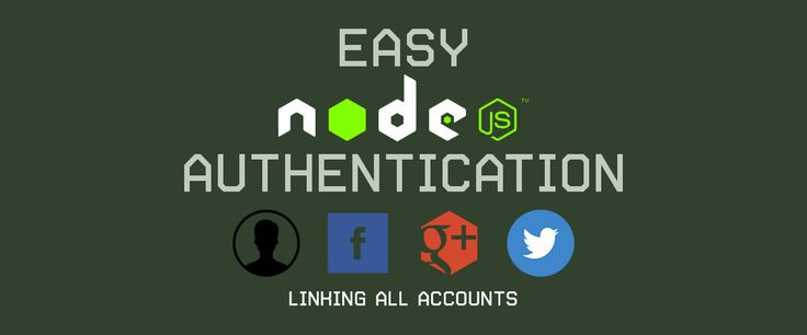 Easy Node Authentication with various social media accounts