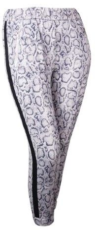 GUESS Women's Reptile Print Slim Jogger Pants (L, Muted Slate Multi)