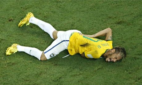 World Cup 2014: A stunned Brazil calls foul over Neymar injury | Brazil's forward Neymar rolls in agony after his collision with Colombia's Zuniga at the World Cup quarter-final.