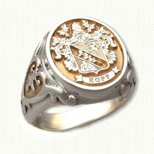 Custom Designed Signet Rings and Family Crest Rings- by deSignet International