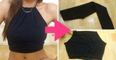 ¿Cómo hacer un top halter reutilizando tus leggings? Te encantará la idea - IMujer