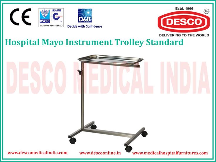 Most of the medical instrument trolleys are made up of smooth stainless steel rods and fitted with stronger wheels that keep the movement free, without any jerks.