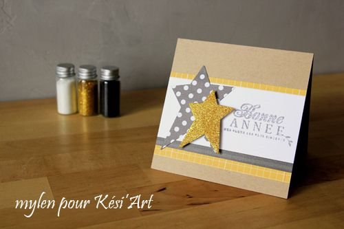 mylen... carte avec glitter