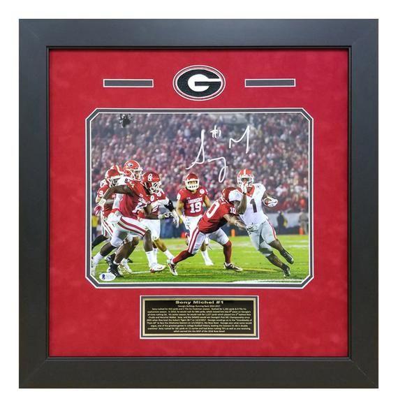 Sony Michel Georgia Bulldogs Rose Bowl Game Winning Touchdown ...