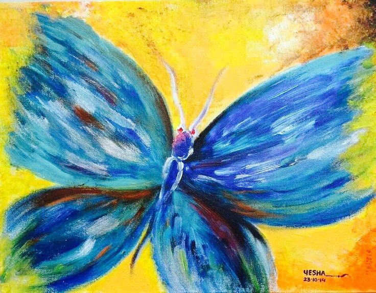 Butterfly  Canvas work