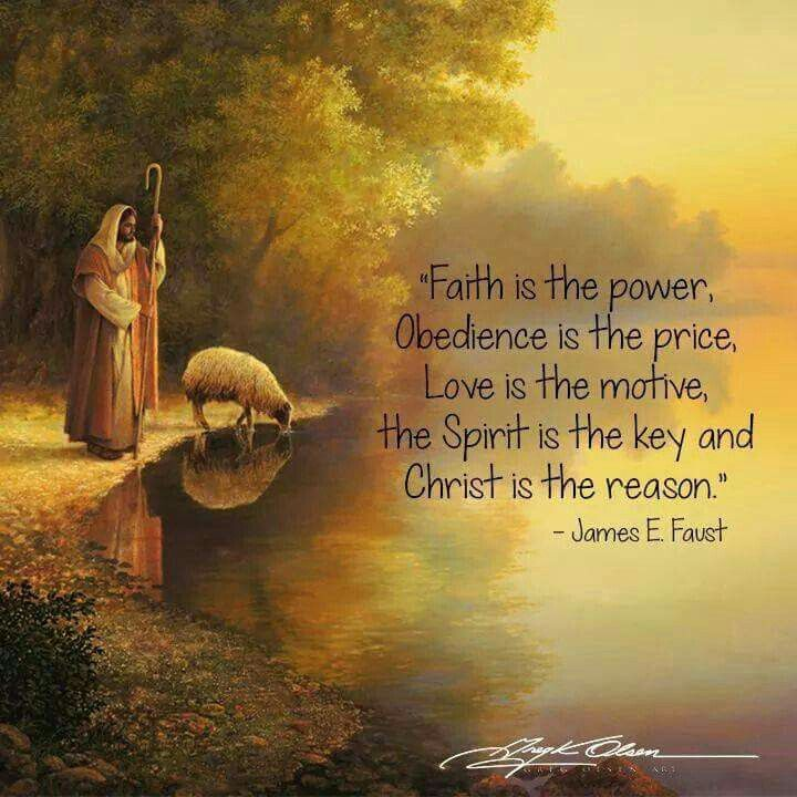 Faith is the key.