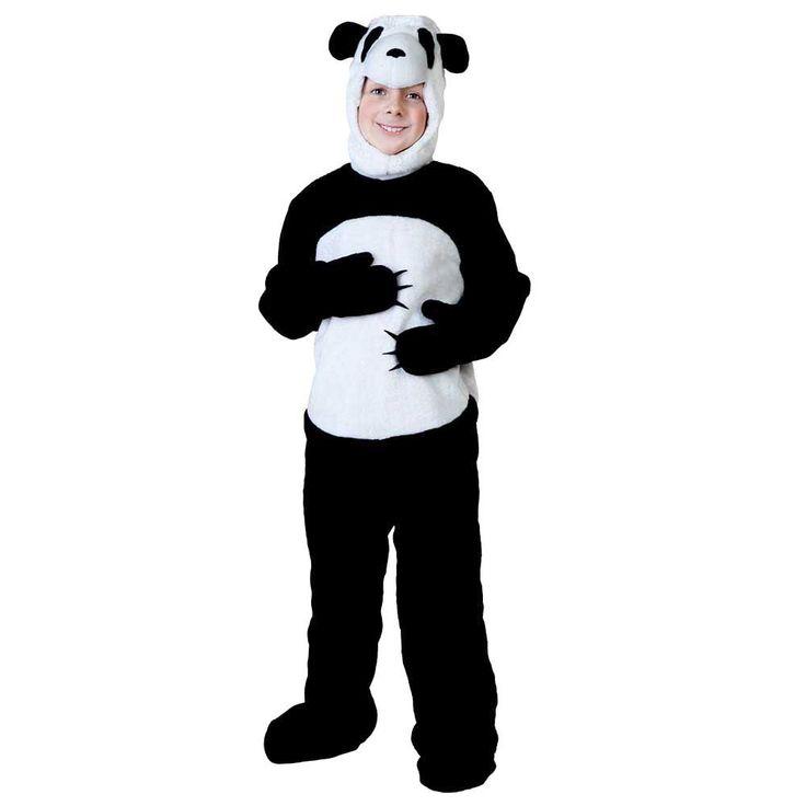 Animal Cosplay Jumpsuit Child Panda Costume Kids Animal Onesies Little Panda Fancy Dress Fleece Toddlers Size Children's Day