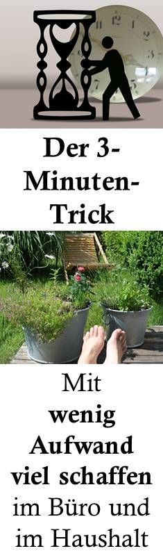 Lieber jetzt als später: Der 3-Minuten-Trick