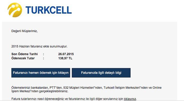 Yeni CryptoLocker Virüsü Yeni CyrptoLocker zararlısı ile saldırılar düzenli olarak devam ediyor. İlk etapta TTnet Postası görünümü ile yayılan ve ciddi oranda zarar veren CryptoLocker ve türevleri daha sonra PTT Posta ve Turkcell servislerini kullanmışlardı. Yeni CyrptoLocker virüsü ile gelen sahte Turkcell e-postası nasıl anlaşılır ? Bu hafta başından itibaren yeniden Turkcell e-Posta görünümü ile kullanıcılara gönderilmeye başlandı. Ancak bu seferki diğerlerine göre daha az profesyonel göz