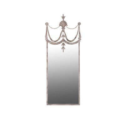 Large drape detail antique style mirror