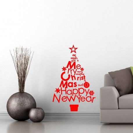 Christmas Tree Wall Decal Christmas Decoration