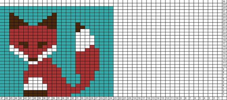 Tricksy Knitter Charts: fox 2