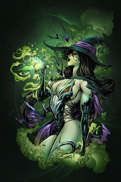 Fantasy Witch Art, Pictures, Images: Ken Lashley, Dr. Oz, Grimm Fairies, Comic Book, Wicked Witch, Sexy Witch, Art Pictures, Digital Illustrations, Fairies Tales