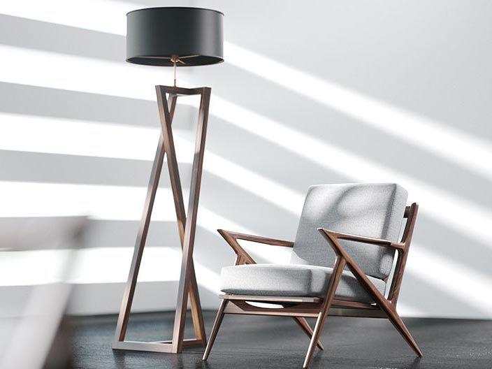 Para esta última semana de julio te dejamos con un nuevo set de modelos 3D de autoría de VizPeople, con una silla Selig Z y una lámpara de madera.