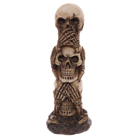 Skull Totem Ornament Gothic Figurine Fun Gift by getgiftideas
