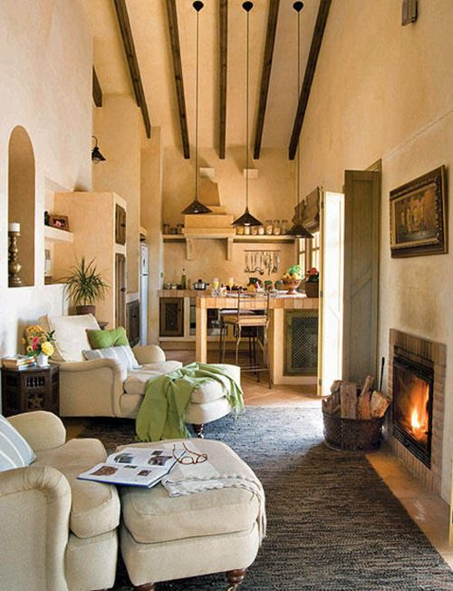 160 best spanish revival style images on pinterest for Small room in spanish