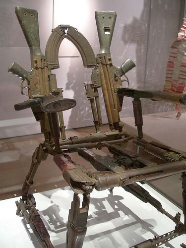 chair made from guns