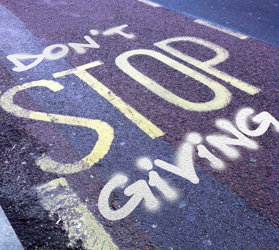 Don't Stop Giving @101fundraising #socialgood #philantropy