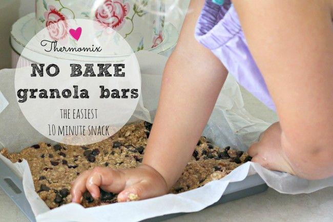 Mrs D plus 3 | Thermomix NO BAKE granola bars | http://www.mrsdplus3.com