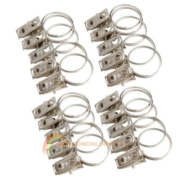 2 01 Aud 20pcs Stainless Steel Window Shower Curtain Rod Clips