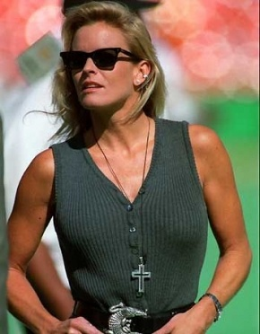 Nicole Brown Simpson. This poor woman was murdered by her jealous ex-husband, OJ Simposon, but he got away with it in theory. Now he is in jail.