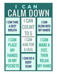 I Can Calm Down Poster, Printable Poster, Digital Download This calm-down anywhere poster is a resource that can be used to help children learn to regulate their emotions, such as anger and anxiety. It serves as a gentle method of helping children calm do