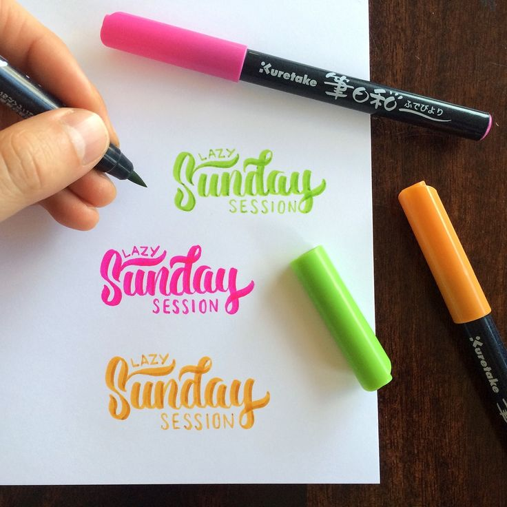 These photos showcase my brush pen calligraphy and