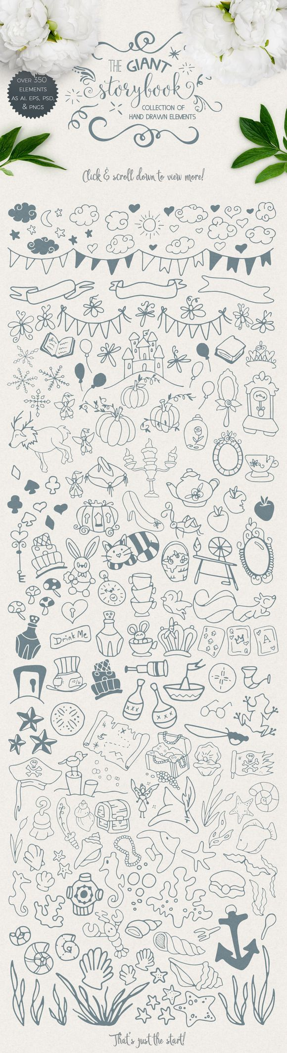 Giant Storybook Elements Collection by Kaerie Out Creative on @creativemarket