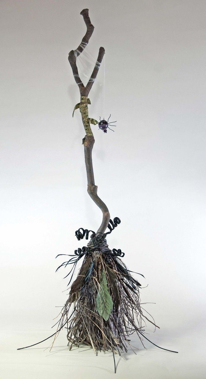 """Katherine's Collection Spellbound Halloween Collection 55"""" Witches Broom Free Ship"""