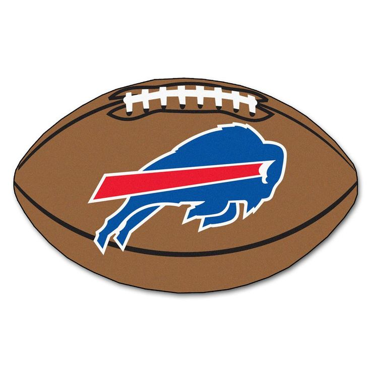 Rush to the end zone and score the big points with the Buffalo Bills Touchdown Football Area Rug.