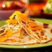 Quesadillas med kalkon och mango