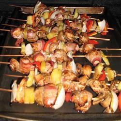 Chicken and Bacon Shish Kabobs Allrecipes.com