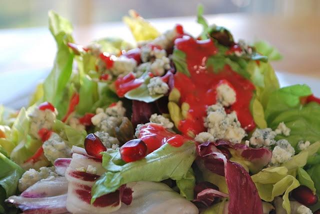 Radicchio+Bibb+Lettuce radicchio and bibb lettuce with raspberry ...