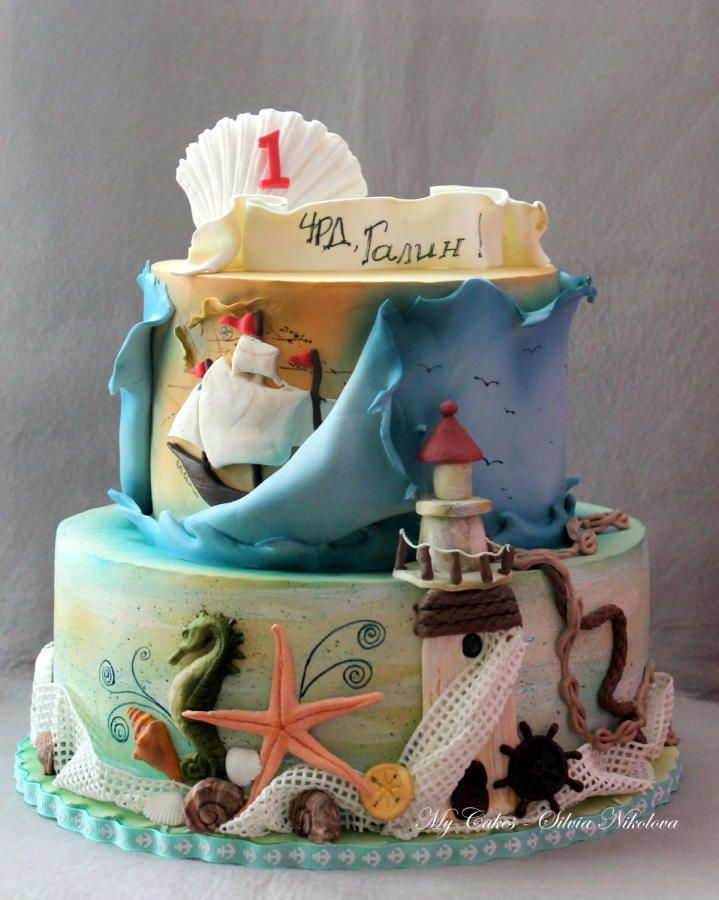 Nautical Cake by marulka_s