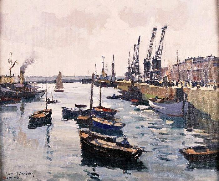 Brest le port de commerce par lucien victor delpy mus e des beaux arts de brest bretagne - Restaurant port de commerce brest ...