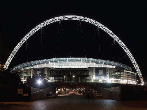Wembley Stadium is a football stadium located in Wembley Park, in the Borough of Brent, London, England. Designed by Foster and Partners and HOK Sport, it is a UEFA category four stadium. The 90,000-capacity venue is the second largest stadium in Europe.