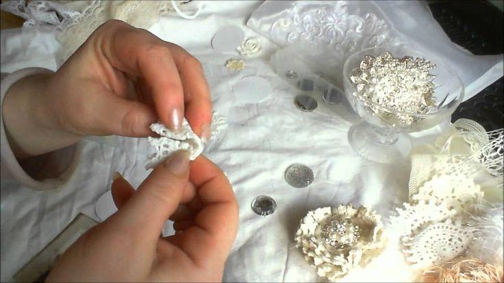 Shabby chic Folded doilies tutorial