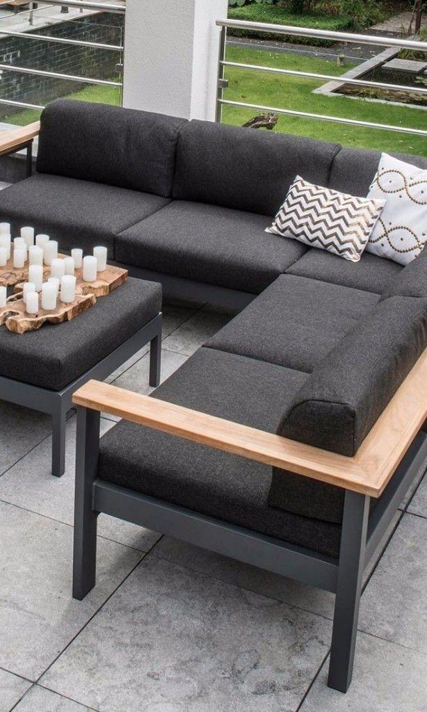 Trend Stilvolle Loungem bel f r den Garten Moderne Gartenm bel im minimal Design seasons Orion Loungeecke