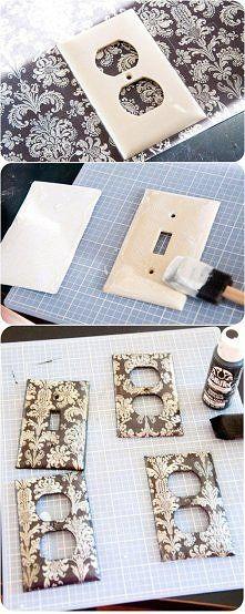 Decor   Mod-Podge wall plates