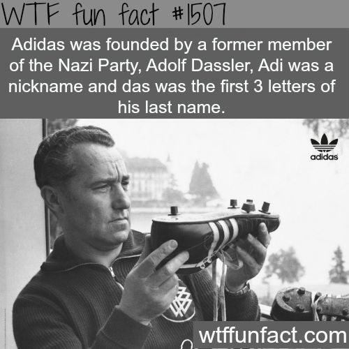 Adolf Dassler, the founder of Adidas WTF FUN FACTS HOME /  See MORE TAGGED/ History FACTS (source)