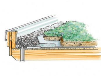 Skizze Dachbegrünung