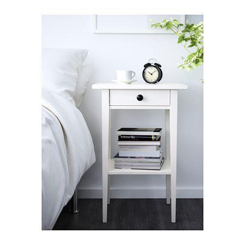 HEMNES Nightstand - white stain - IKEA $69.99 -- replace knobs