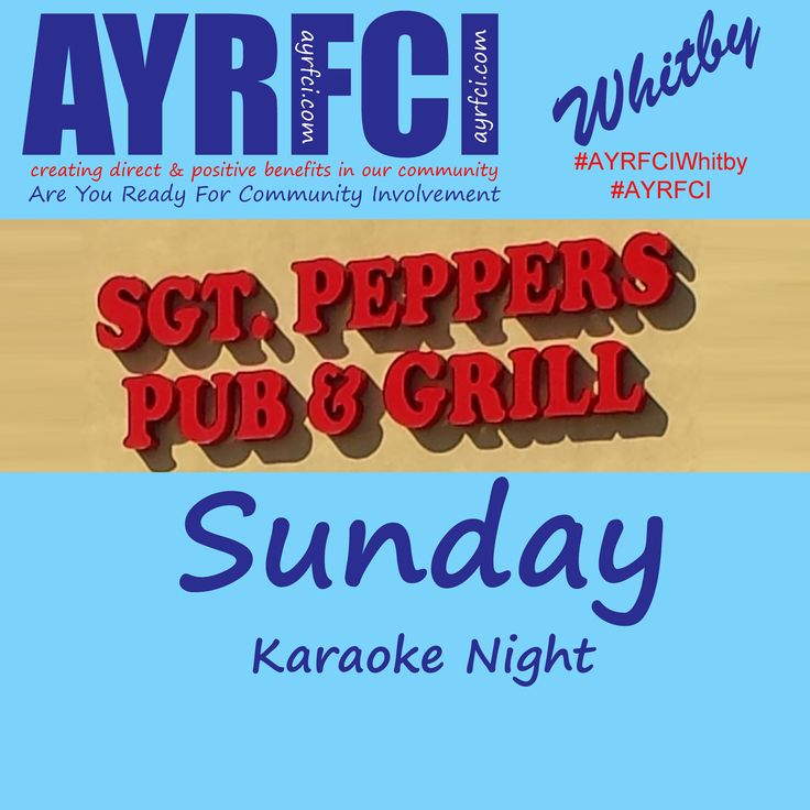 http://areyoureadyforci.com/Whitby.html https://www.facebook.com/Sgtpepperswhitby02 http://www.sgt-peppers.ca/ #AYRFCIWhitby