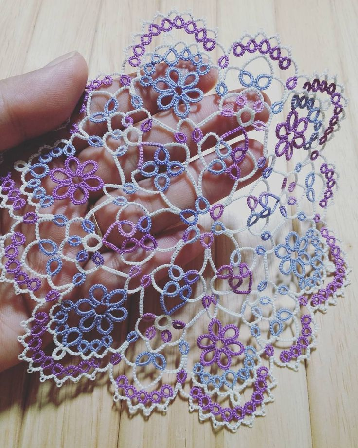 Flower gem (c) herua 7월 함께해요. #태팅레이스 #도일리 #tattingrace #doily #handmade