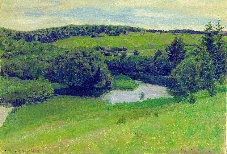 Северный пейзаж. 1902 - Васнецов Аполлинарий Михайлович
