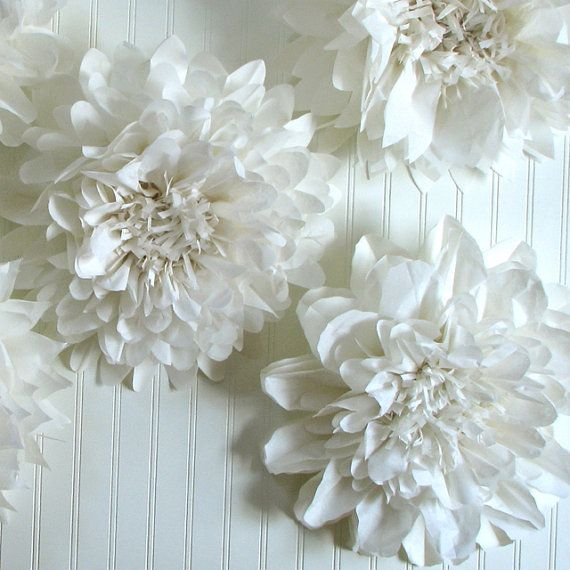 100 best wedding december 2014 images on pinterest dream wedding 5 giant paper flowers hanging wall flower white wedding mightylinksfo